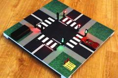 Model skrzyżowania z sygnalizacją świetlną